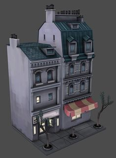 What Are You Working On? 2013 Edition - Page 323 - Polycount Forum: Modelos Low Poly, Modelos 3d, Game Environment, Environment Concept Art, Hand Painted Textures, Isometric Art, 3d Mesh, Building Concept, 3d Architecture