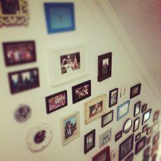 Mix n match photo frame wall