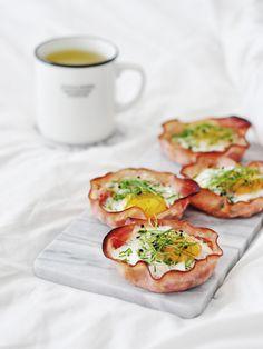 Eiermuffins met Ham