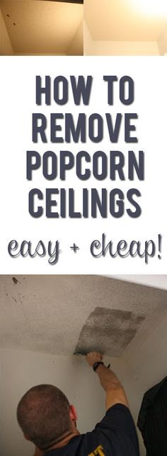 You won't believe what a difference it makes in how light your house feels! (Check out the before and after!) Easy, inexpensive update: how to remove popcorn ceilings