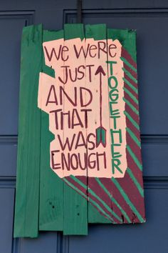 Handmade Distressed Wood Plank Sign We Were Just by sondering, $40.00