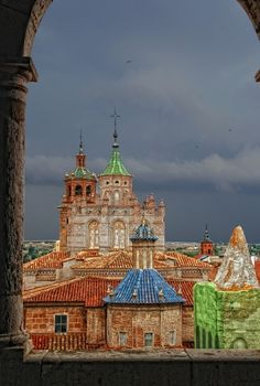 The roofs of Teruel, Aragon, Spain
