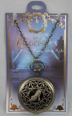 New-Disney-Live-Action-Cinderella-HT-Exclusive-Collection-Pocket-Watch-Necklace