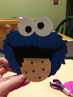 Lea H's Birthday / Cookie Monster - Photo Gallery at Catch My Party First Birthday Cards, Twin Birthday Parties, Baby Birthday Cakes, Monster Birthday Parties, Elmo Birthday, Baby First Birthday, Birthday Cookies, First Birthdays, Sesame Street Party