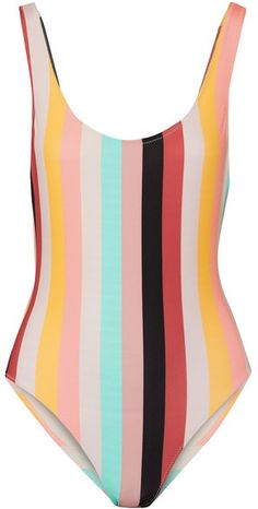 Solid and Striped - The Anne-marie Striped Swimsuit - Bubblegum