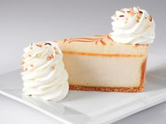 Dulce de Leche Caramel Cheesecake (caramel cheesecake topped with caramel mousse on a vanilla crust.)