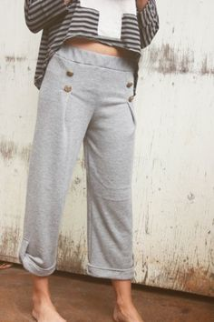Comfy sweats with a cute top. Yes.