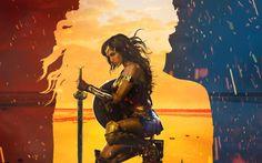 Scarica sfondi Wonder Woman, 2017, Arte, Gal Gadot, Themyscira