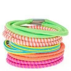 Neon Striped Hair Ties