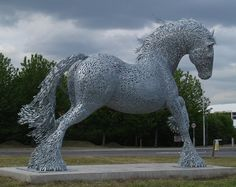 More from Andy Scott.  The Belvedere Cob in Bexley, East London. The Cob was inspired by the horses which the local traveller community have traditionally grazed in the local area. The 5m high sculpture is made from galvanised steel and is sited on the roundabout at the junction of Eastern Way and Anderson Way in Belvedere.