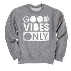 Good Vibes Only Distressed Toddler Crew Fleece