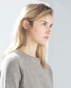 LONG CHAIN EARRINGS - Jewellery - Accessories - WOMAN | ZARA Malaysia