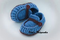 Knitting Pattern & Crochet Pattern(PDF) - Baby Boy Booties - Pattern  number 19. $1.99, via Etsy.