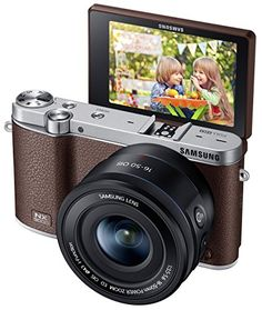 Samsung NX3000 Wireless Smart 20.3MP Compact System Camera with 16-50mm OIS Power Zoom Lens and Flash (Brown) - http://digitalcamerawithwifi.ellprint.com/samsung-nx3000-wireless-smart-20-3mp-compact-system-camera-with-16-50mm-ois-power-zoom-lens-and-flash-brown/