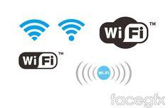 Wireless network WiFi icon vector