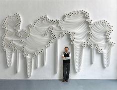 Toilet Paper Installations by Sakir Gökcebag.