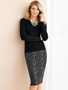 Love this!  Talbots - Damask Jacquard Pencil Skirt | Skirts |