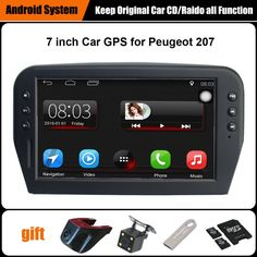 Upgraded Original Car multimedia Player Car GPS Navigation Suit to Peugeot 207 Support WiFi Smartphone Mirror-link Bluetooth