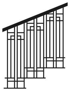 MP Note: Arts & Crafts style railing idea - we could do the hand rail in stained wood. Cast Iron Railings For Stairs and Decks - Nature´s Right Hand Stair Banister, Stair Railing Design, Deck Stairs, Hand Railing, Railing Ideas, Front Stairs, Garden Stairs, Banisters, Railings For Stairs