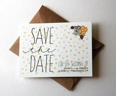 Customizable Wedding Save the Dates with Polka by OliveandRuby, $1.25