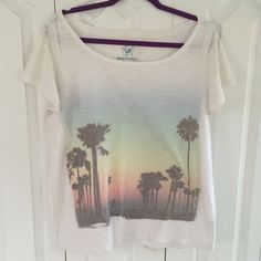 AE Sunset Tee Loose fit tee. No stains. American Eagle Outfitters Tops Tees - Short Sleeve