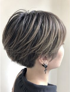 Grey Ombre Hair, Brown Hair Balayage, Wedge Hairstyles, Cute Hairstyles For Short Hair, Edgy Short Hair, Short Hair Cuts, New Hair Look, Bridal Hairdo, Shot Hair Styles