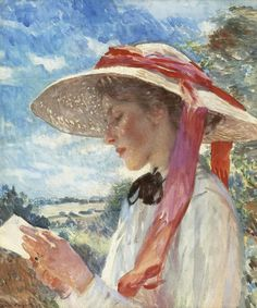 Dame Laura Knight - A Girl Reading