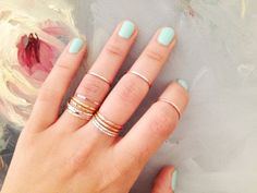 BUILD YOUR OWN  Set of 4 Rings  Any by jewelsandnotes on Etsy, $34.00