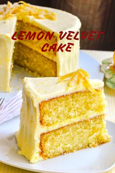 LEMON VELVET CAKE If you are looking for an easy, restaurant-quality cake Recipes , you've come to Just Desserts, Delicious Desserts, Dessert Recipes, Drink Recipes, Lemon Velvet Cake, Citrus Cake, Cupcake Cakes, Cupcakes, Cake Mix Cookies