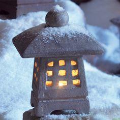 Small Yukimi Snow Lantern:DharmaCrafts meditation supplies