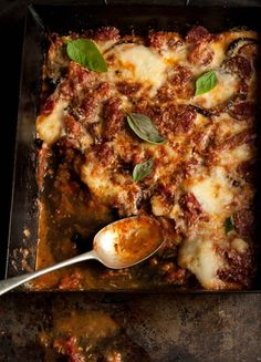 melanzane parmigiana with chorizo from a very nice guy | Drizzle and Dip