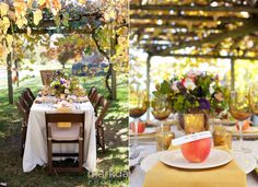 Great ideas for centerpieces at this wedding at Alyson's Orchard in Walpole, NH. Photo by Mark Davison Photography.