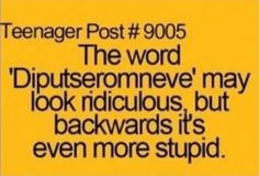"""The word """"diputseromneve"""" may look ridiculous, but..."""