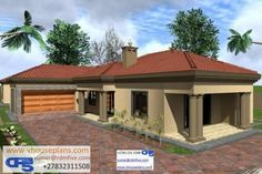 Free House Plans, Best House Plans, House Floor Plans, Beautiful House Plans, Beautiful Homes, Single Storey House Plans, House Design Pictures, Building Costs, 4 Bedroom House Plans