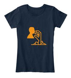 Halloween Hand Attacks New Navy T-Shirt Front