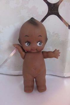 Vintage Black Kewpie Doll Baby Wings on Back Cupie Dolls, Kewpie Doll, African American Dolls, Googly Eyes, Drawing Room, Doll Stuff, Vintage Toys, Vintage Black, Vintage Antiques