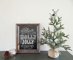 Have a Holly Jolly Christmas - Rustic Christmas - Holiday Chalkboard - Holiday Print - Holiday Decoration - Chalkboard Art  11x14 Print on Etsy, $29.00