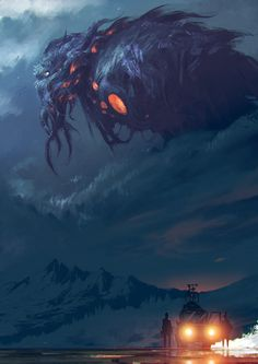 "cinemagorgeous: "" The Call of Cthulhu by artist Ömer Tunç. """