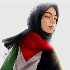 Palestine Girl, Hijab Drawing, Hijab Cartoon, Skeleton Art, Cover Photo Quotes, Islamic Wallpaper, Instagram And Snapchat, Islam Quran, Illustration Art