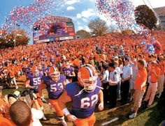 CLEMSON  ~ Purple and Orange are my favorite uniforms!!!!