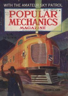 A cover gallery for Popular Mechanics Pub Vintage, Tech Magazines, Science Magazine, Popular Magazine, Popular Mechanics, Futuristic Design, Retro Futurism, Science And Technology, Science Fiction