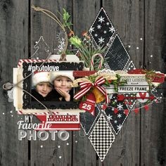 I love the diamond cut black and white papers! Christmas Scrapbook Layouts, Scrapbook Page Layouts, Scrapbook Sketches, Scrapbook Paper Crafts, Scrapbooking Digital, Scrapbooking Ideas, Baby Scrapbook, Scrapbook Cards, Layout Template