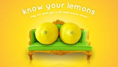 awesome Know your lemons they can teach you a lot about breast cances