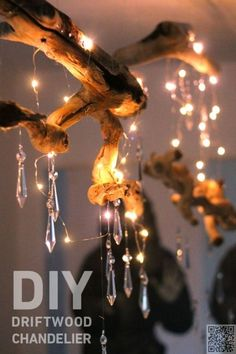 28 Dreamy DIY Lighting Projects You'll Adore DIY Lighting Ideas and Cool DIY Light Projects for the Home. Chandeliers, lamps, awesome pendants and creative hanging fixtures, complete with tutorials with instructions & DIY Driftwood Chandelier & Driftwood Chandelier, Mason Jar Chandelier, Diy Chandelier, Chandeliers, Homemade Chandelier, Driftwood Projects, Driftwood Art, Driftwood Ideas, Decorating With Driftwood