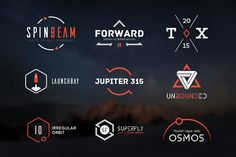 10 Futuristic Logos Pack by fortyfive on Creative Market