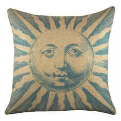 TheWatsonShop Exclusive Sun Pillow in Blue - Love this pillow; would be great for sunroom or porch