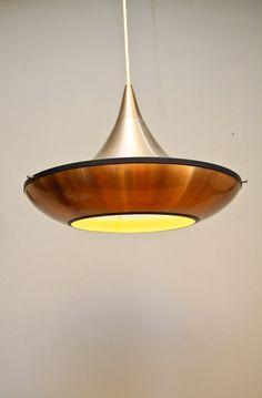 Danish design hanging lamp 1970s Eames era Carl Thore by etage3