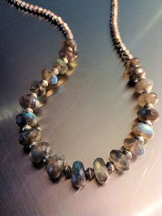 Long+Labradorite+and+Silver+Necklace+by+GemsRevisited+on+Etsy,+$127.00