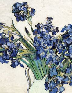 Vincent van Gogh Vase with Irises painting is shipped worldwide,including stretched canvas and framed art.This Vincent van Gogh Vase with Irises painting is available at custom size. Art Van, Van Gogh Art, Vincent Van Gogh, Desenhos Van Gogh, Van Gogh Pinturas, Images Murales, Van Gogh Paintings, Flower Paintings, Painting Flowers
