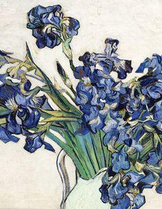 Vincent van Gogh, Irises, 1890 (detail) @ http://blurrymelancholy.tumblr.com/post/47628277327/vincent-van-gogh-irises-1890-detail